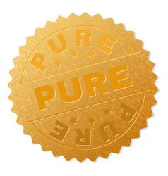 Golden pure award stamp vector