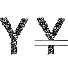 Hand drawn letter y vector