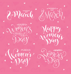 happy women day phrases vector image