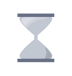 hourglass time clock vector image