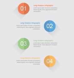 Infographic options with long shadow vector