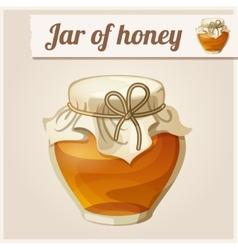 Jar honey vector