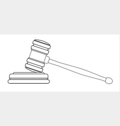 Judges gravel line drawing vector