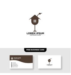 Juice bar logo and business card template vector