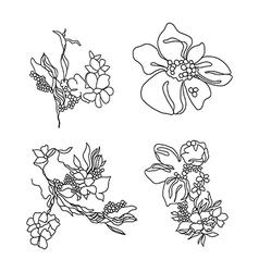 Lace flowers set vector image