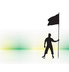 man holding a flag vector image