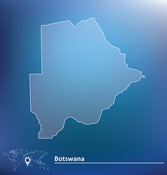 Map of Botswana vector image
