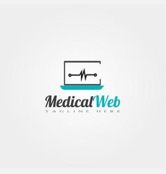 medical web icon template creative logo design vector image