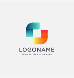 modern abstract gradient technology rotation logo vector image
