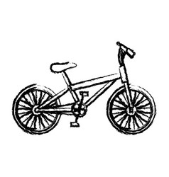Monochrome sketch of sport bike in white vector