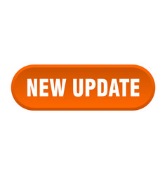 New update button new update rounded orange sign vector