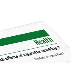 newspaper - health vector image