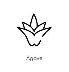 Outline agave icon isolated black simple line vector