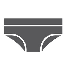 panties glyph icon lingerie and female underwear vector image