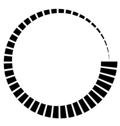 Radial radiating element concentric centripetal vector