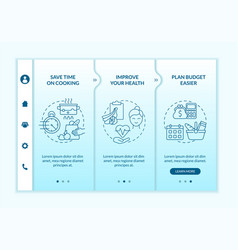Reasons for meal planning blue gradient vector