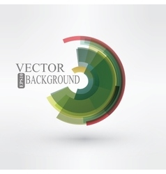 Round shape logo design vector