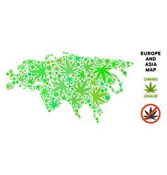 Royalty free marijuana leaves mosaic europe and vector