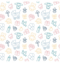 Seamless background on theme vector