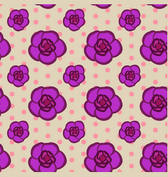 seamless floral pattern with pink achimenes vector image