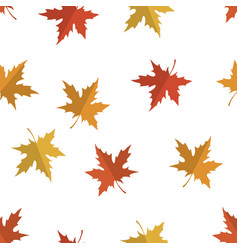 seamless pattern with red yellow and orange maple vector image