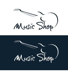 Set music shop emblems vector