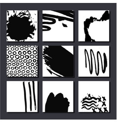 set of artistic cards posterls art hand vector image