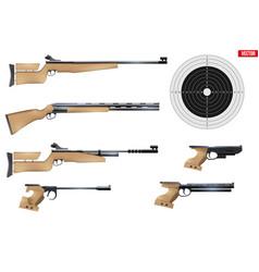 Set shooting sport equipment vector