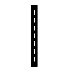 Single-lane road icon simple style vector