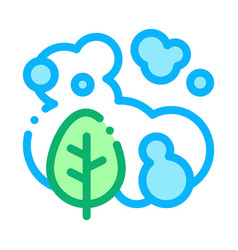 smoke plant icon outline vector image