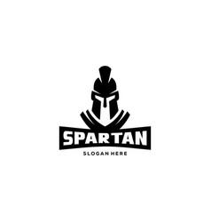 spartan logo designs vector image