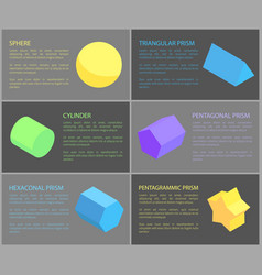 sphere and cylinder geometric obgects banner vector image