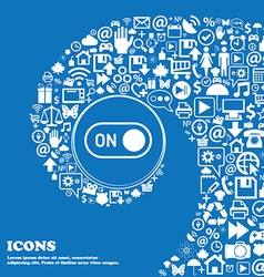 Start icon sign Nice set of beautiful icons vector