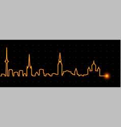 tallinn light streak skyline vector image