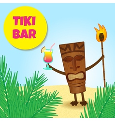 tiki with legs vector image