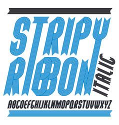 Trendy modern uppercase alphabet letters vector