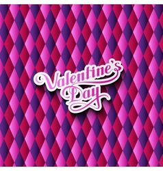Valentines Day retro label vector image