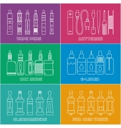 vape shop set vector image