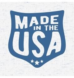 Vintage USA stamp vector image