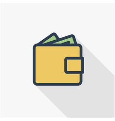 wallet with money cash finance bank and shopping vector image