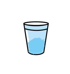 water glass to drink and fresh beverage vector image