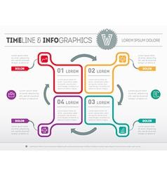 Web template for circle diagram or presentation vector