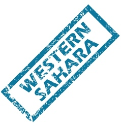 Western Sahara rubber stamp vector image