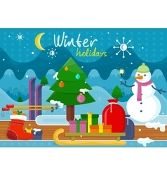 Winter Holidays Concept Design vector