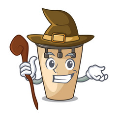 Witch conga mascot cartoon style vector