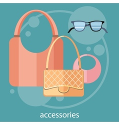 Womens fashion accessories vector