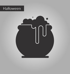 black and white style icon halloween witches vector image vector image