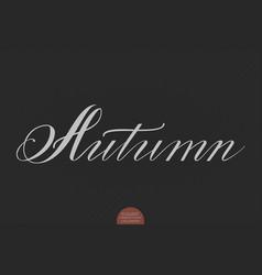 hand drawn lettering autumn elegant vector image vector image