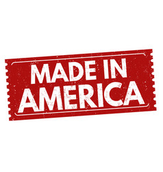 made in america grunge rubber stamp vector image