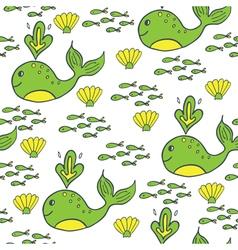 summer pattern green yellow vector image vector image